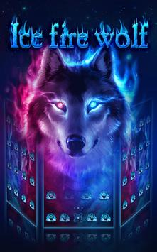 Fire Wolf Theme: Ice fire wallpaper HD apk screenshot