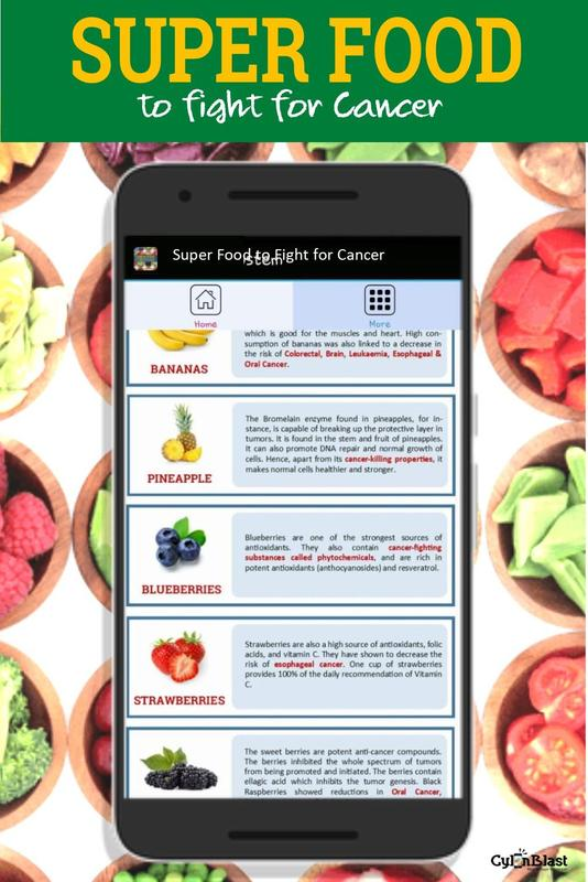 Super food to fight for cancer for android apk download super food to fight for cancer captura de pantalla 4 forumfinder Images