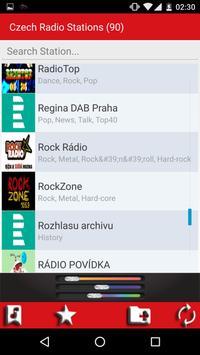 Czech radio stations screenshot 2