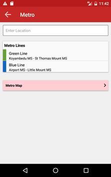 MTC Bus Metro Suburban train screenshot 9