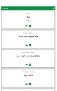 Learn Hungarian screenshot 5
