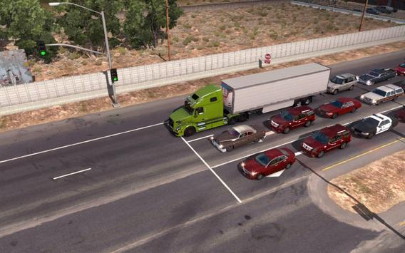 Truck Driver Real Traffic Mod poster