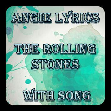 Angie Lyrics The Rolling Stones With Song poster