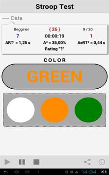 Stroop Test [FREE] apk screenshot
