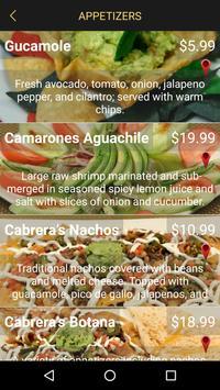 Cabrera's (Mexican-Cuisine) apk screenshot