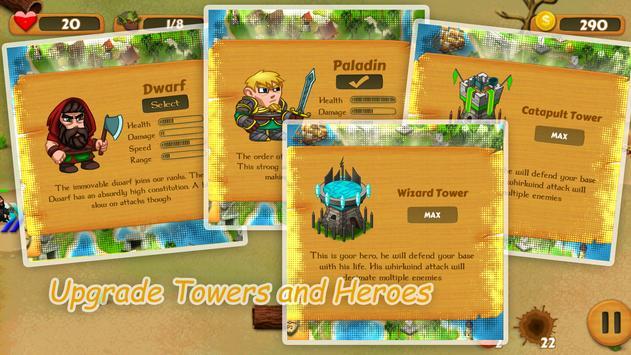 Heroes TD: Fantasy Wars apk screenshot