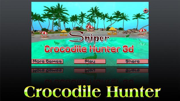 Sniper Crocodile Hunter 3D poster