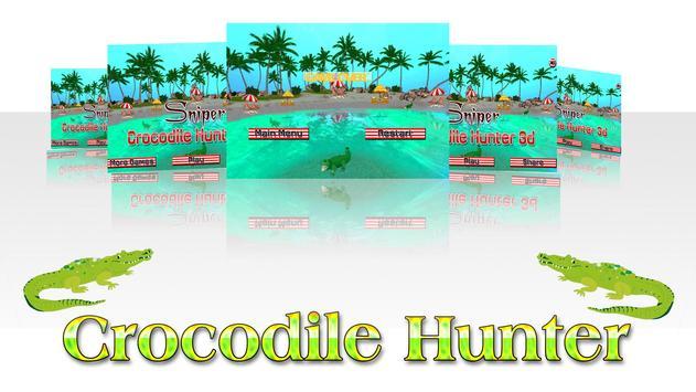 Sniper Crocodile Hunter 3D apk screenshot