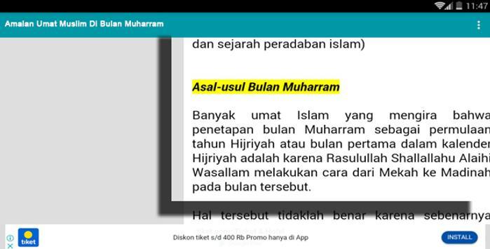Amalan Umat Muslim Di Bulan Muharram screenshot 2