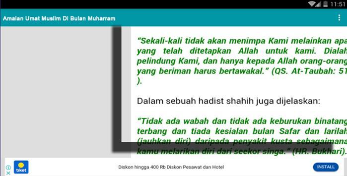 Amalan Umat Muslim Di Bulan Safar screenshot 5