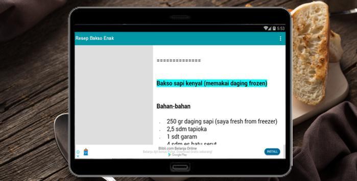 Resep Bakso Enak screenshot 3