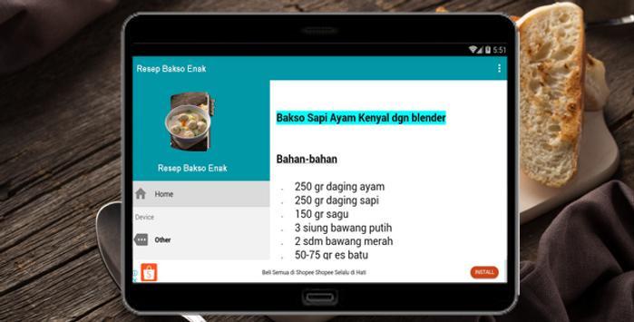 Resep Bakso Enak screenshot 5