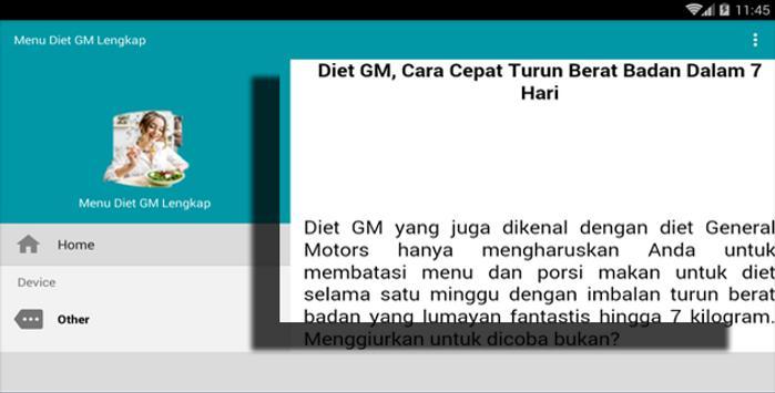 Menu Diet Gm Lengkap For Android Apk Download