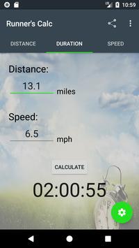 Runner's Calculator Simplicity apk screenshot