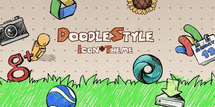 Doodle Style Theme poster