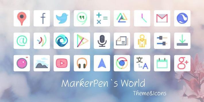 Marker Pen Style Theme poster