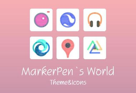 Marker Pen Style Theme apk screenshot