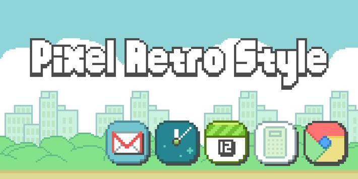Pixel Retro Style Theme poster