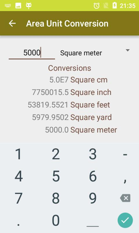Land Area Calculator for Android - APK Download