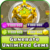 Cheats and Gems for COC prank icon
