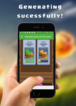 Cheats and Gems for COC prank screenshot 4
