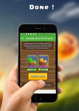 Cheats and Gems for COC prank screenshot 6