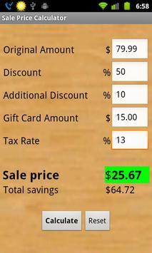 sale price calculator apk تحميل مجاني تسو ق تطبيق لأندرويد