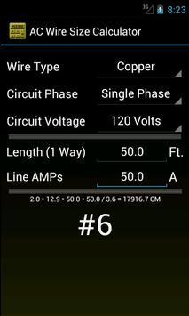 Wire size calculator apk download free productivity app for wire size calculator poster wire size calculator apk screenshot keyboard keysfo