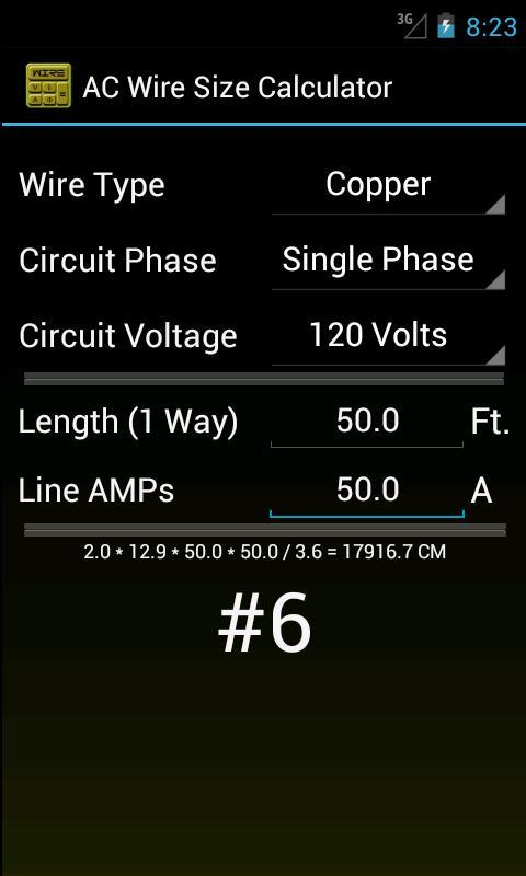 Wire size calculator apk download free productivity app for wire size calculator poster wire size calculator apk screenshot greentooth Gallery