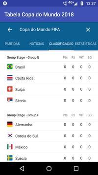 Tabela Copa do Mundo 2018 poster