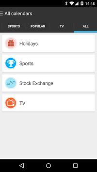 CG - Calendars Add-On screenshot 1