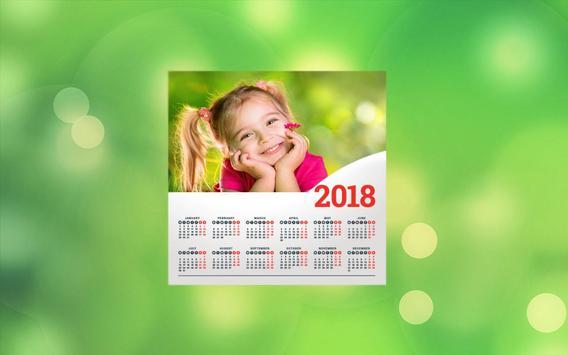 Calendar Photo Editor 2018 screenshot 4