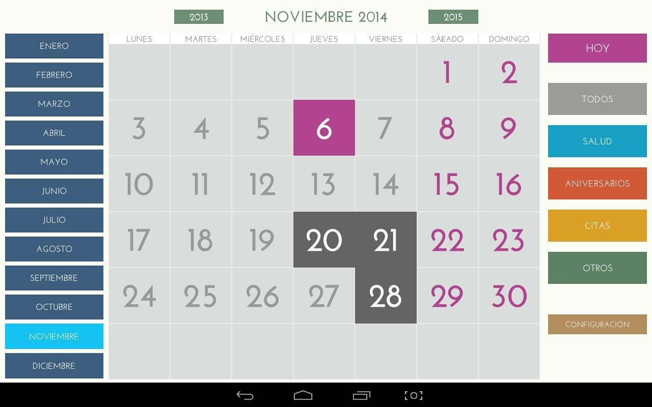 Calendario Android.Calendario Facil Para Android For Android Apk Download