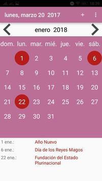 Calendario screenshot 1
