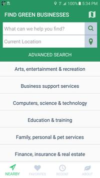 Shop Green - Business Search poster