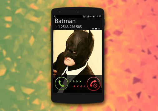 Fake Call From Batman apk screenshot