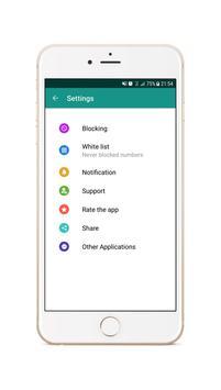 Call Blocker - SMS Blocker Second screenshot 3