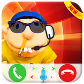 Jeffy The Puppet : Free Fake Call icon