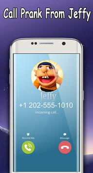 Jeffy The Puppet : Free Fake Call poster