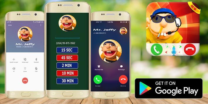 Jeffy The Puppet : Free Fake Call screenshot 2
