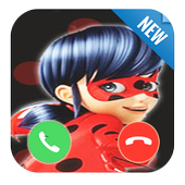 Fake call From Miraculous Ladybug icon