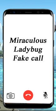 Fake call From Miraculous Ladybug poster