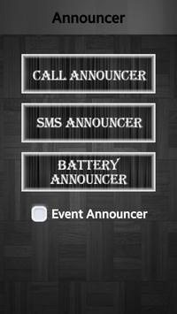 Call SMS & Battery Announcer poster