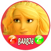 Fake Call From Barbie Princess Sweet icon