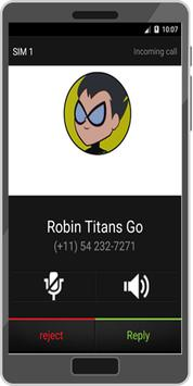 Call From Robin Titans Go Prank poster