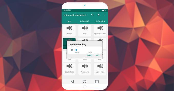 Voice Call recorde for whatapp screenshot 3