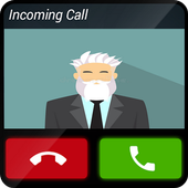 Fake call old friend icon
