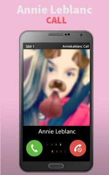 Annie LeBlanc Simulated Call apk screenshot