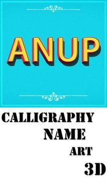Calligraphy Name Art 3D poster