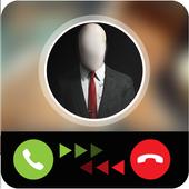 Prank call slender joke icon